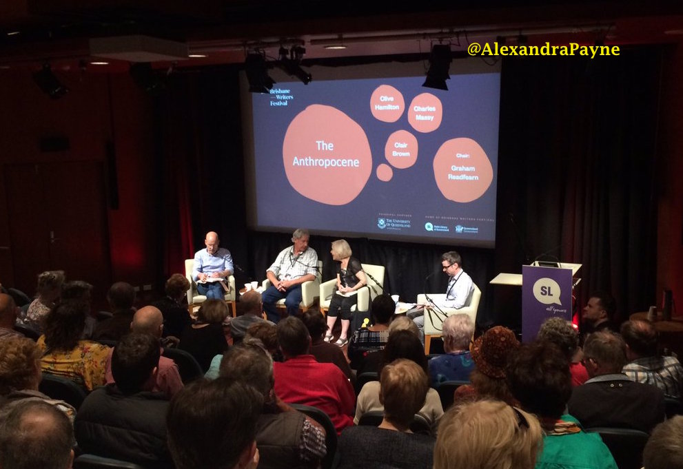 Panelists at the brisbane Writers festival discuss the anthropocene